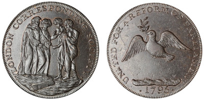 London Corresponding Society, Halfpenny, 1795 (D&H Middlesex 286)