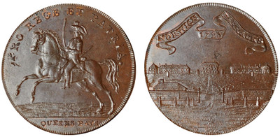John Rooks, Commercial Halfpenny, 1793 (D&H Norfolk 47a)