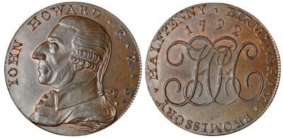 Henry Hickman, Commercial Halfpenny, 1792 (D&H Warwickshire 144)
