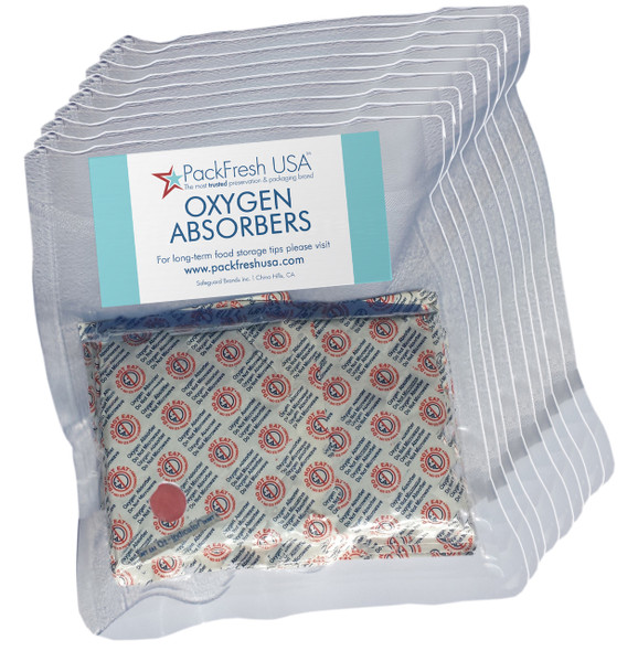(100) 2000cc oxygen absorbers for long term food storage 5 gallon bags