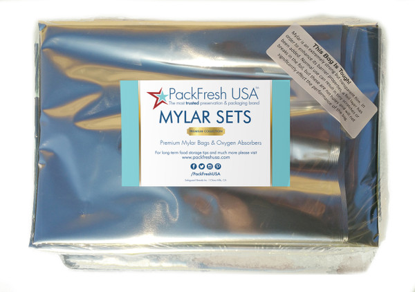 5 gallon ziplock mylar bags set