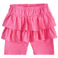 Mud Pie Ruffle Skirted Short - PINK