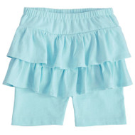 Mud Pie Ruffle Skirted Short - AQUA