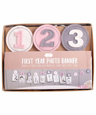 Mud Pie Monthly Photo Banner - PINK