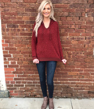 Hold On To This Hooded Sweater - MARSALA