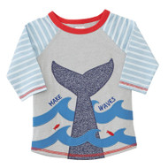 Mud Pie Make Waves Whale Rash Guard