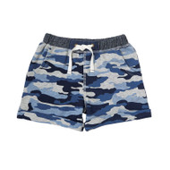 Mud Pie Camo Pull On Shorts - BLUE