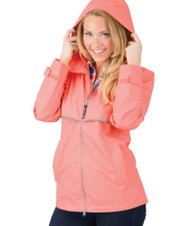 New England Rain Jacket - CORAL