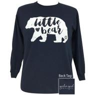 Girlie Girl Little Bear Navy Tee