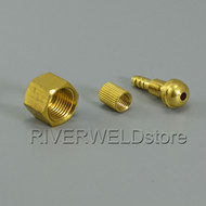 M16*1.5 Gas & Water Quick Fitting Hose Connector Fit Plasma Cutter and TIG Torch
