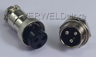 3pins Socket Connector Aviation Plug 16-3P Male+ Female Metal Self Locking 1Set