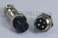 4pins Socket Connector Aviation Plug 16-4P Male+ Female Metal Self Locking 1 Set