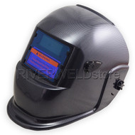 "Auto Darkening Welding Helmet & Grinding 3.86""x2.17"" Solar + Replaceable Battery"