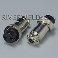 2pcs 2 Pin Wire Panel Connector GX20-2 for TIG Welding / Plasma Cutting Machine