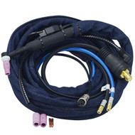 WP-24WF TIG Welding Torch with CK35-70 Plug connector & Quick Fitting Connector Water Cooler 180Amp