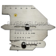 Welding Gauge HJC60 Flat gap gage Weld bead height welding seam gap Metric
