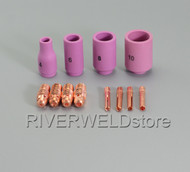 TIG KIT Alumina Nozzles, Collet Bodies & TIG Welding Torch WP-9 WP-20 WP-25 12PK