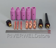 TIG Welding Torch Collets Body 2% Thoriated Tungsten fit WP-17 WP-18 WP-26 17PK