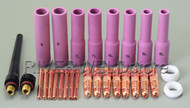 28pcs Tig Welding Torch long alumina nozzle spare replacement parts PTA WP17 18 26