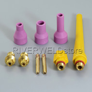 9PK TIG KIT Alumina Nozzle Collet Bodies Fit TIG Welding Torch QQ150A