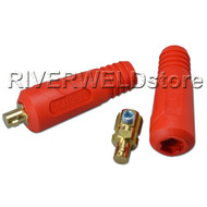 Quick Fitting Cable Connector-Plug Red Color 200Amp DKJ10-25 Welding Machine,2PK