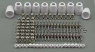 100pcs LG-40 PT-31 Plasma Cuter Consumables Extended Nickel-plated CUT-50 CT-312