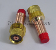 "45V25 1/16"" 1.6mm TIG Gas Lens Collets Body Fit DB SR WP 17 18 26 TIG Torch 2PK"