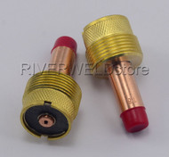 45V116 1/16'' Large Diameter TIG Gas Lens Collet Bodies SR WP 17 18 26 Torch 2PK