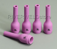 796F70 3# Long Alumina cups Nozzles Fit DB WP SR 9- 20 25 TIG welding Torch 5PK
