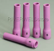 796F76 5L# Long Alumina cups Nozzles Fit DB WP SR 9- 20 25 TIG welding Torch 5PK