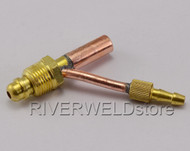 "TIG Fitting 5/8""-18 Male Cable and Gas Separate Cable Connector For WP-26 Torch"