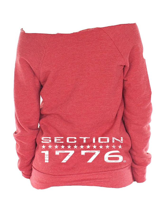 Ladies Red Triblend Fleece