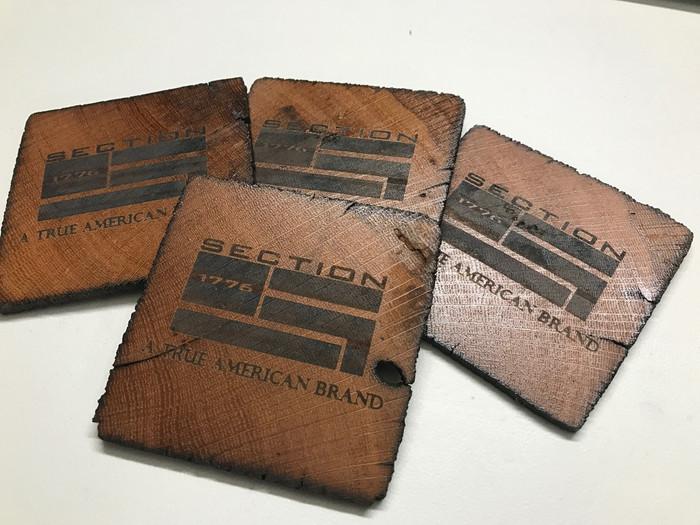 4 Branded Coasters
