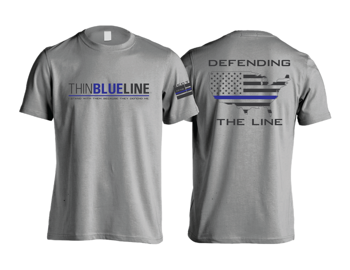 Thin Blue Line - Gray Short Sleeve