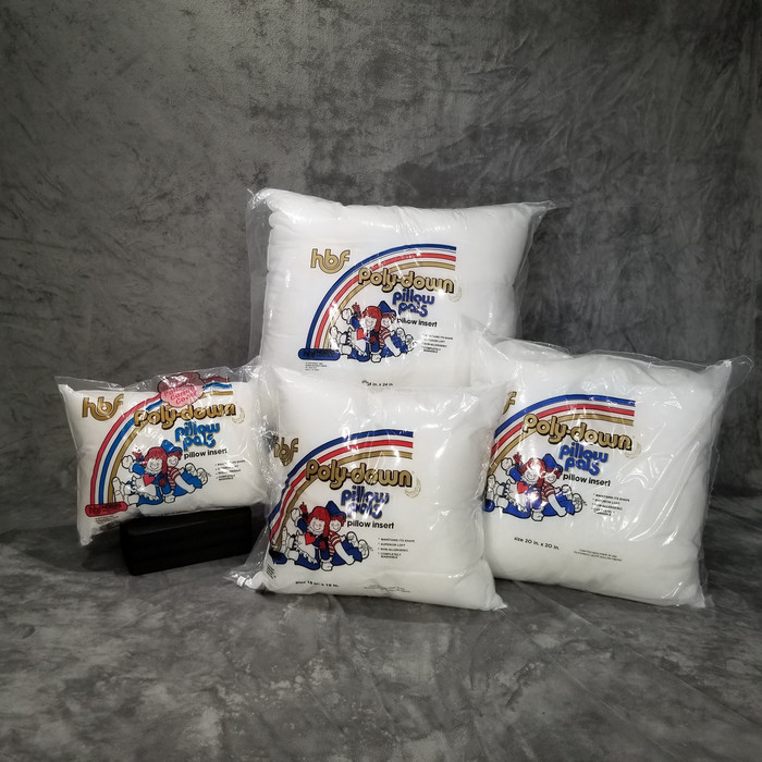 "Pillow Insert Sizes: 12"" x 12"",    12"" x 16"",    14"" x 14"",    16"" x 16"",    18"" x 18"",    20"" x 20"",    24"" x 24"",    27"" x 27"""