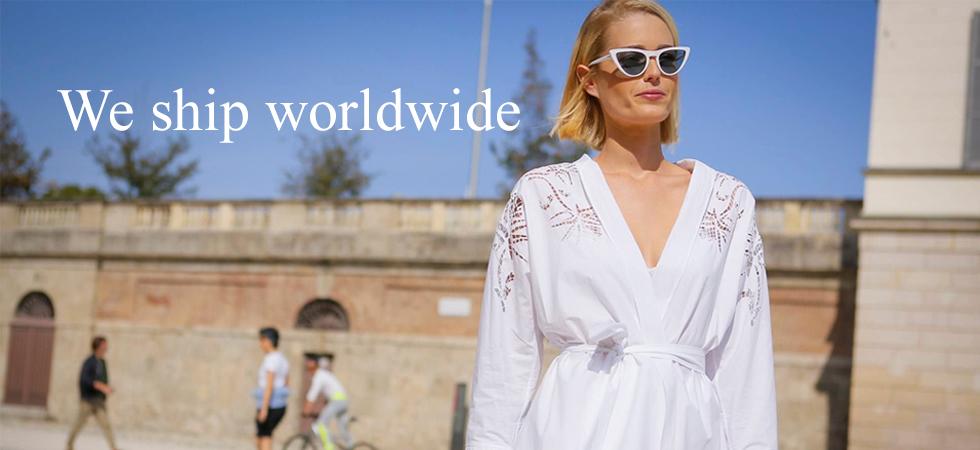 Worldwide shipping for international customers, women's fashion. Vivaldi Boutique NYC