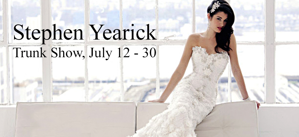 Stephen Yearick Evening Gown Trunk Show. Vivaldi Boutique NYC