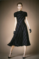 Plein Sud Knee-Length Dress with Striped Bands