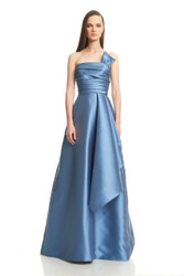 Theia Resort 2016 Strapless Draped A-Line Gown