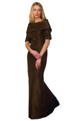 """Catherine Regehr Vintage Roll Collar """"Grace"""" Gown with Trumpet Skirt"""