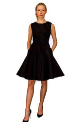 """Catherine Regehr Boat Neck """"Apple Blossom"""" Dress with Circle Skirt"""