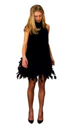 "Catherine Regehr T-Neck Swing Dress with ""Cherry Blossom"" Hem"