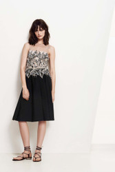 Blumarine Illusion Neckline Mini Dress