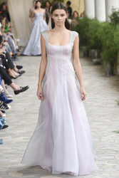 Luisa Beccaria Organza Multicolor Gown