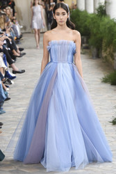 Luisa Beccaria Tulle Multicolor Ball Gown