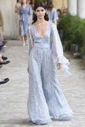 Luisa Beccaria Cotton Mussola Printed Maxi Dress