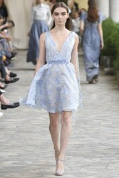 Luisa Beccaria Organza Fil Coupe Short Dress With Cape