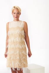 Algo Spring/Summer 2017: Feather and lace couture dress