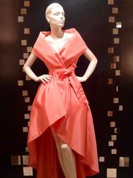 Catherine Regehr Sleeveless Shawl Collar Gown