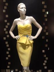 Marchesa Notte Peplum Dress